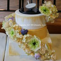 25th Anniversary Cake: Time by 3DSweets