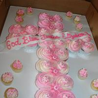 Cupcake Cross Pullaway Cake