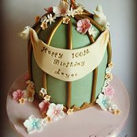 100th Birthday Birdcage Cake