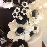 Anemones for a Black and White Wedding