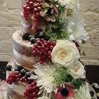 Katrina Naked  Wedding Cake