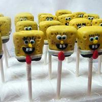 spongebob cakepops