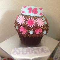 16th Birthday Giant Cupcake