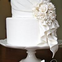My 1st wedding cake!