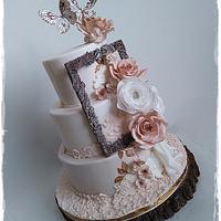 Wedding cake in beige