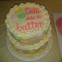 Cute As A Button Shower Cake