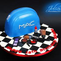 MAC inspired birthday cake