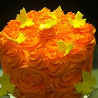 Rose Swirl Cake by Teresa W.