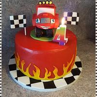 4th Birthday Cake Blaze the Monstermachine