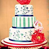 Oriental Wedding Cake by Ling KittyBakes