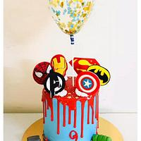 Whipped Cream Avengers theme Cake