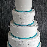 Tapered Brush Embroidery and Beading Wedding Cake