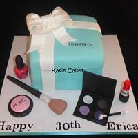 Tiffany Gift Box and MAC Makeup