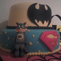Tarta Super Héroes by maria jose garcia herrera