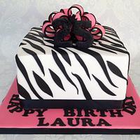 Zebra print pink n black