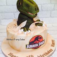 Dinosaur cake (Jurassic Park)