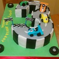 3rrd Birthday race track cake