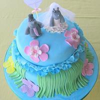 Bachelor tropical cake