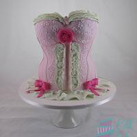 Corset Cake for Breast Cancer Foundation by Eat Cake