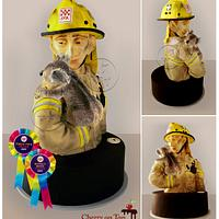 The Firefighter Cake - Andy & Chiko