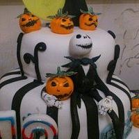 Jack Skellington Cake by Kazza