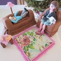 PSYCHIATRIST COUCH CAKE