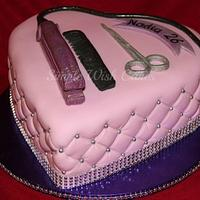 Pink Hairdressers Cake