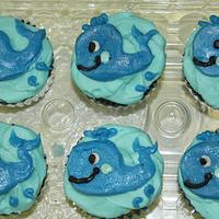 Whale cupcakes Buttercream