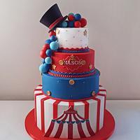 Circus themed cake