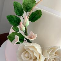 Floral Hoop Weeding Cake