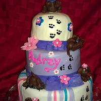 puppy one year cake