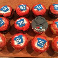 Belichick and the boys cupcake style