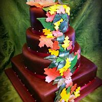 Fall wedding cake by Shelly Vance