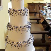 Sugar bubbles wedding cake