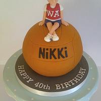 Sporty 40 Netball Cake