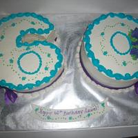 60th Birthday Cake by caymancake