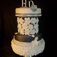 Black Tie Affair  by Kosmic Custom Cakes
