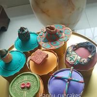 Navratri theme cupcakes