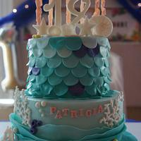 Under the Sea/ Mermaid Cake for an 18th Birthday
