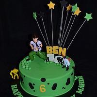 ben ten cake by Sue Ghabach