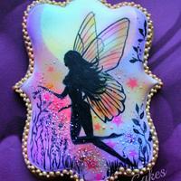 Garden Fairy Silhouette Cookie