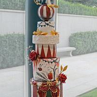 Vintage Circus Wedding Cake