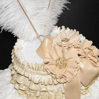 Vintage couture cake by Nelly Konradi