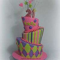 Topsy Turvy / Madhatter 21st Cake