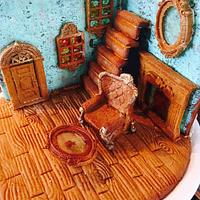My vintage gingerbread cookie house