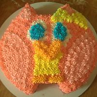 Owl First Birthday Cake and smash cake by Dejah84