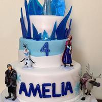 4th Birthday Frozen Cake