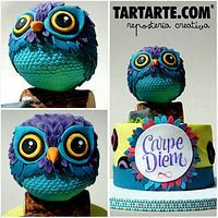 Owl cake: Carpe Diem