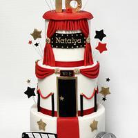 Hollywood Sweet 16 Cake