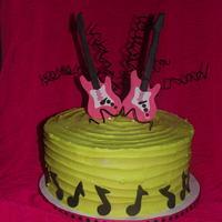 Rocker Girl Birthday Cake!